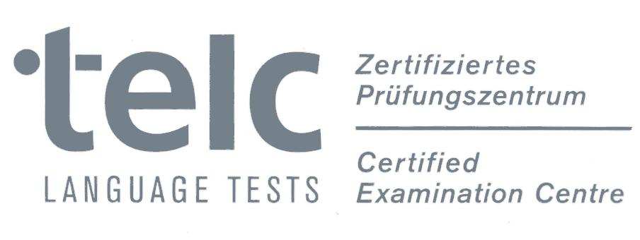 Logo von telc - Zertifikat eines Prüfungszentrums