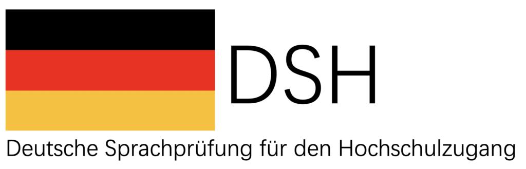 Deutsche Flagge und der Schriftzug: DSH Deutsche Prüfung für den Hochschulzugang